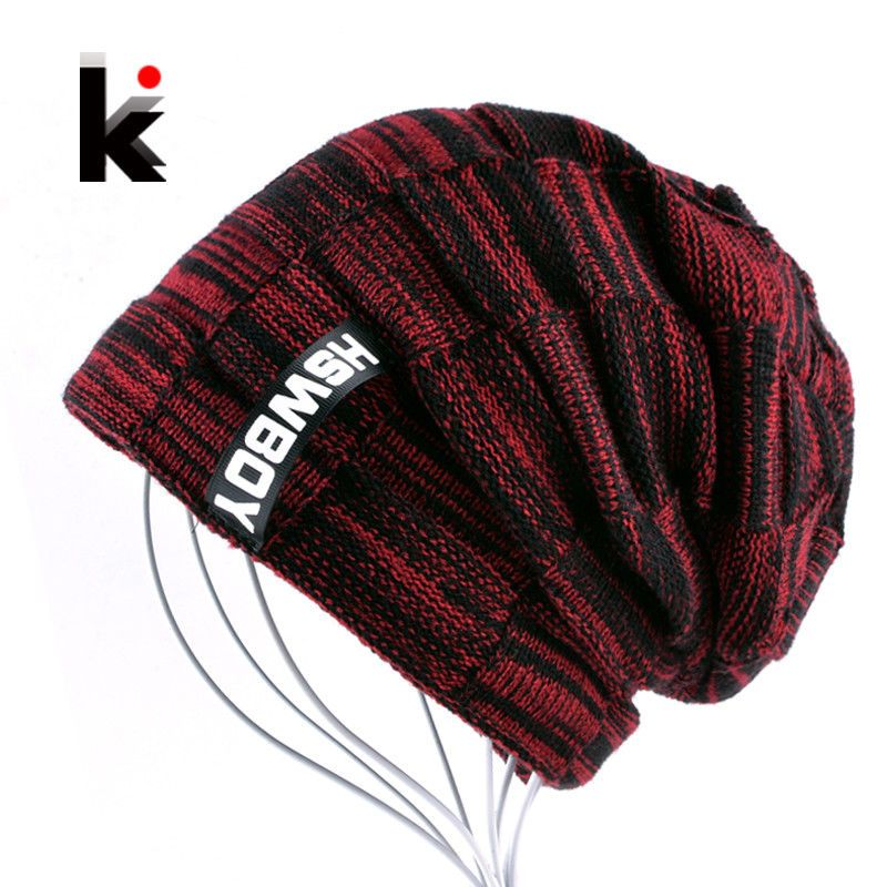 6a998dd2955 2018 Autumn And Winter Bonnets Hat For Men Women Knitted Plaid Beanies  Skullies  fashion
