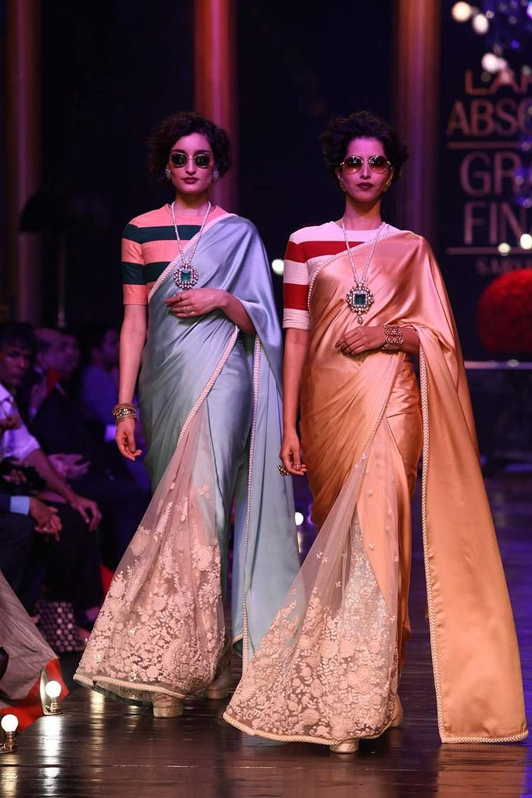 Saree for fashion show  designer blouse images that will blow your mind  pinterest