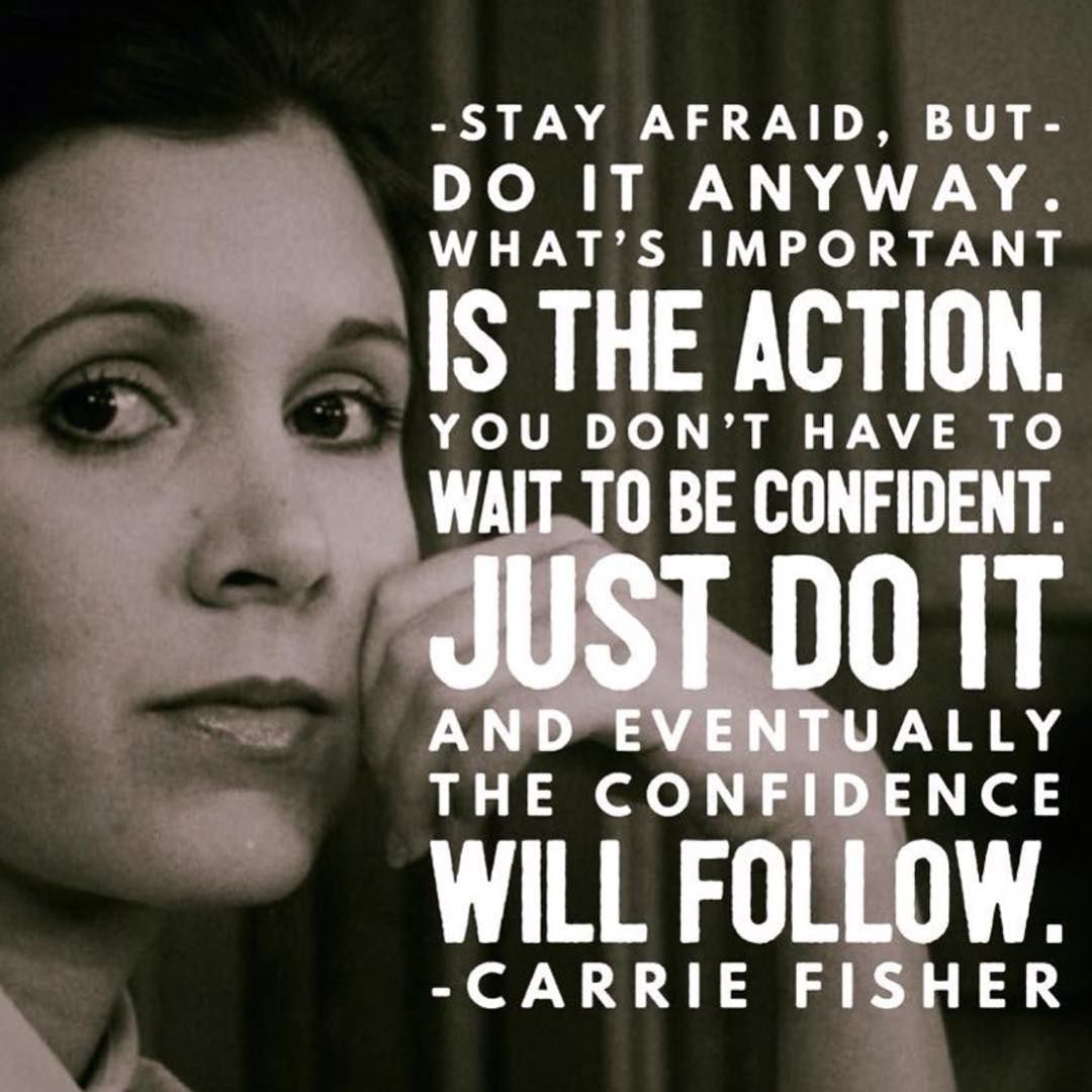 Image result for Carrie fisher quote on bravery