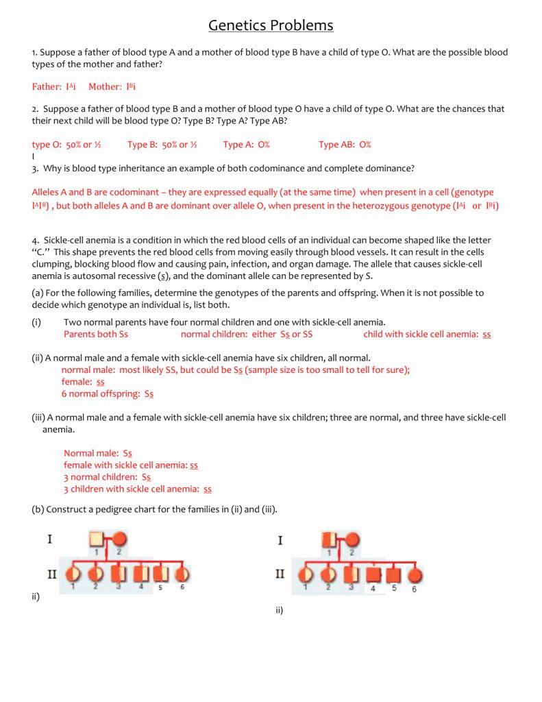 Genetics Practice Problems Worksheet Answers Awesome Amoeba Sisters Video Recap Introductio Genetics Practice Problems Genetics Practice Probability Worksheets
