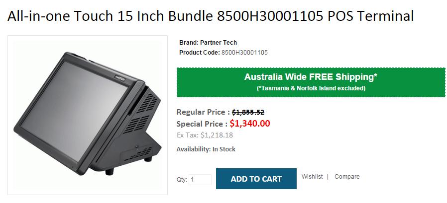 Buy Allinone Touch 15 Inch Bundle 8500H30001105 POS