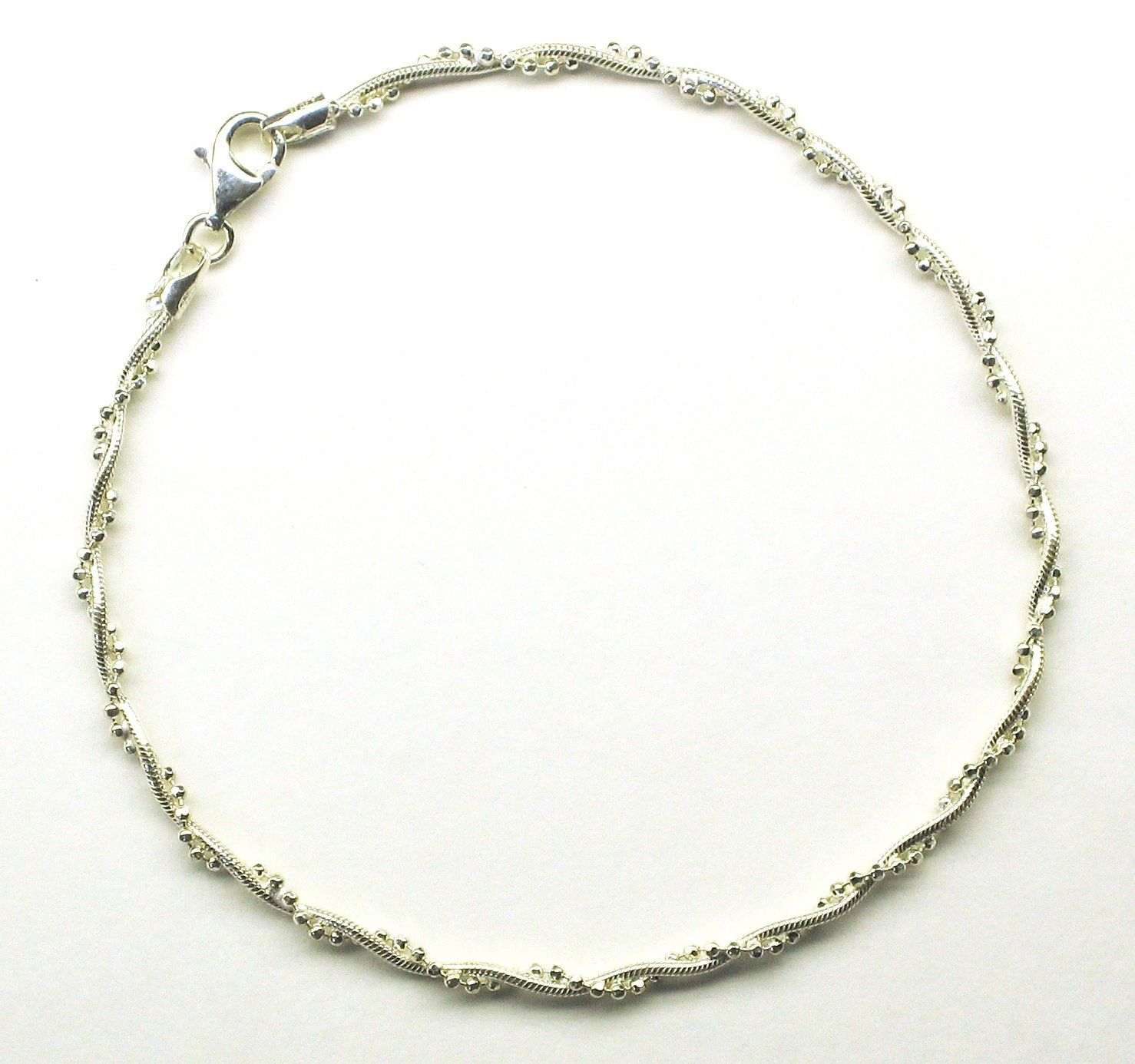 ladies inch link anklet black white gold bracelets cut bead bracelet diamond