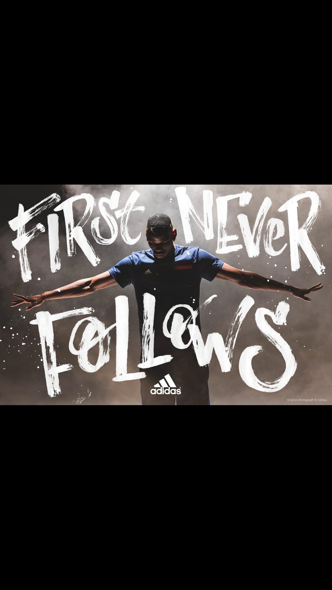 First never follows adidas sport ad advertisement