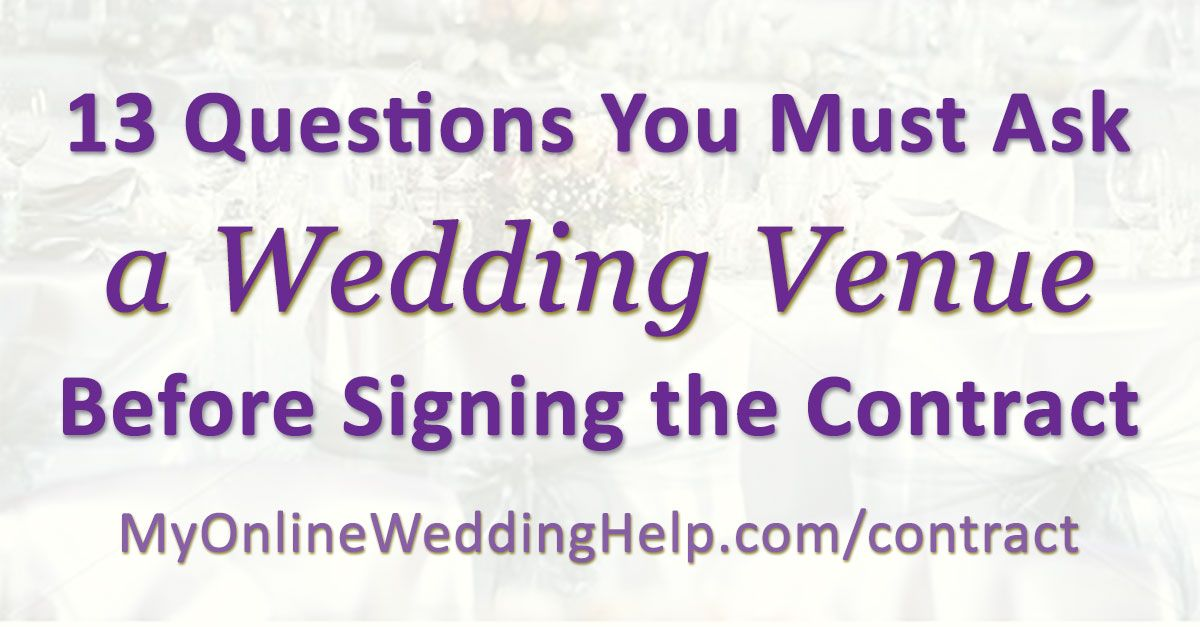 Must-Ask Questions for Wedding Event Venues 13 Contract Tips