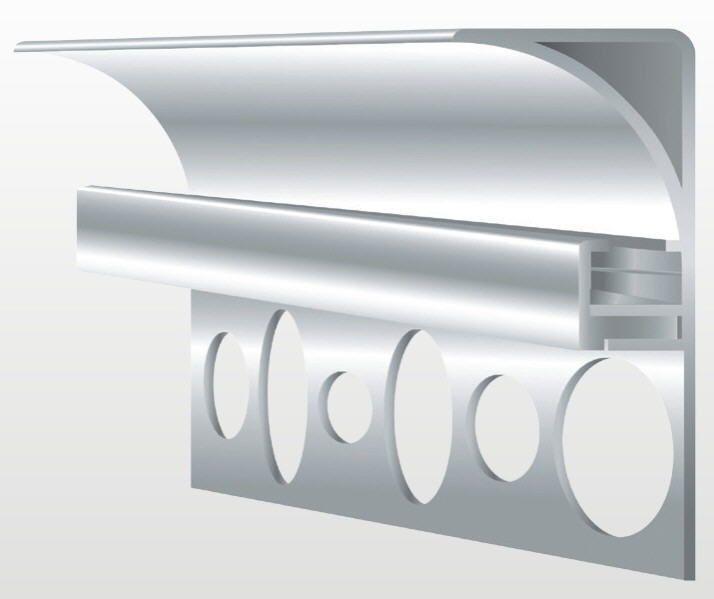 Aluprofil für Deckenbeleuchtung -35 mm hoch- Eloxiert oder Weiß für - fliesen bad wei
