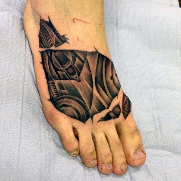 90 Foot Tattoos For Men - Step Into Manly Design Ideas ...