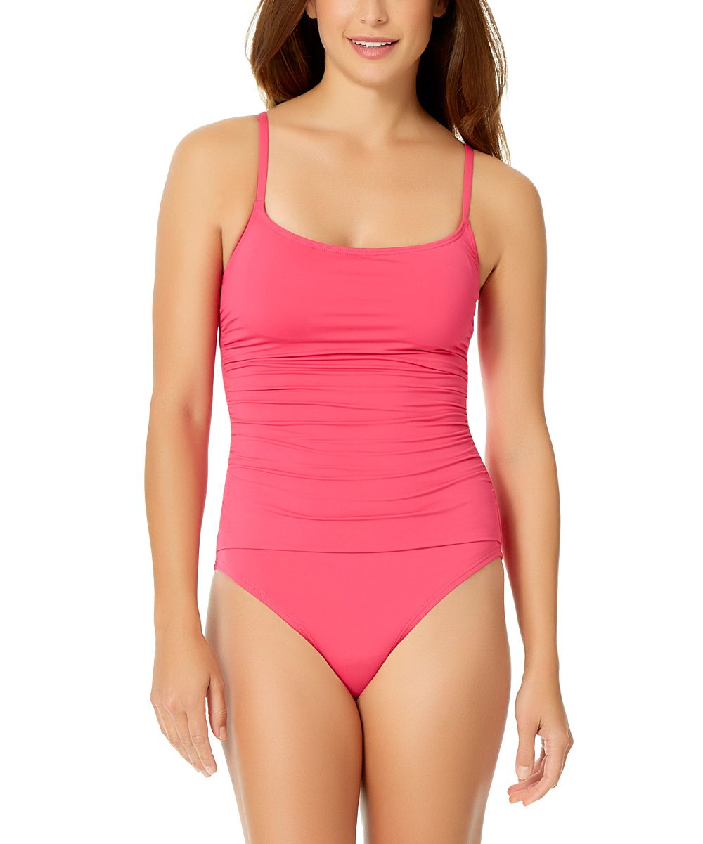 Pink Shirred Lingerie Maillot