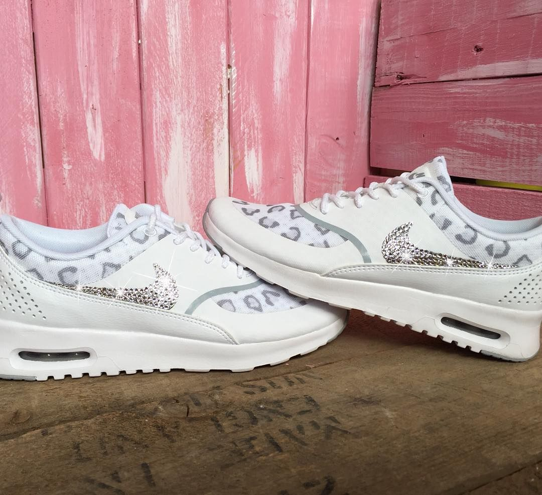 Just two sizes left in the Women s Nike Air Max Thea in White Leopard 💎  Size 8f370a997e61