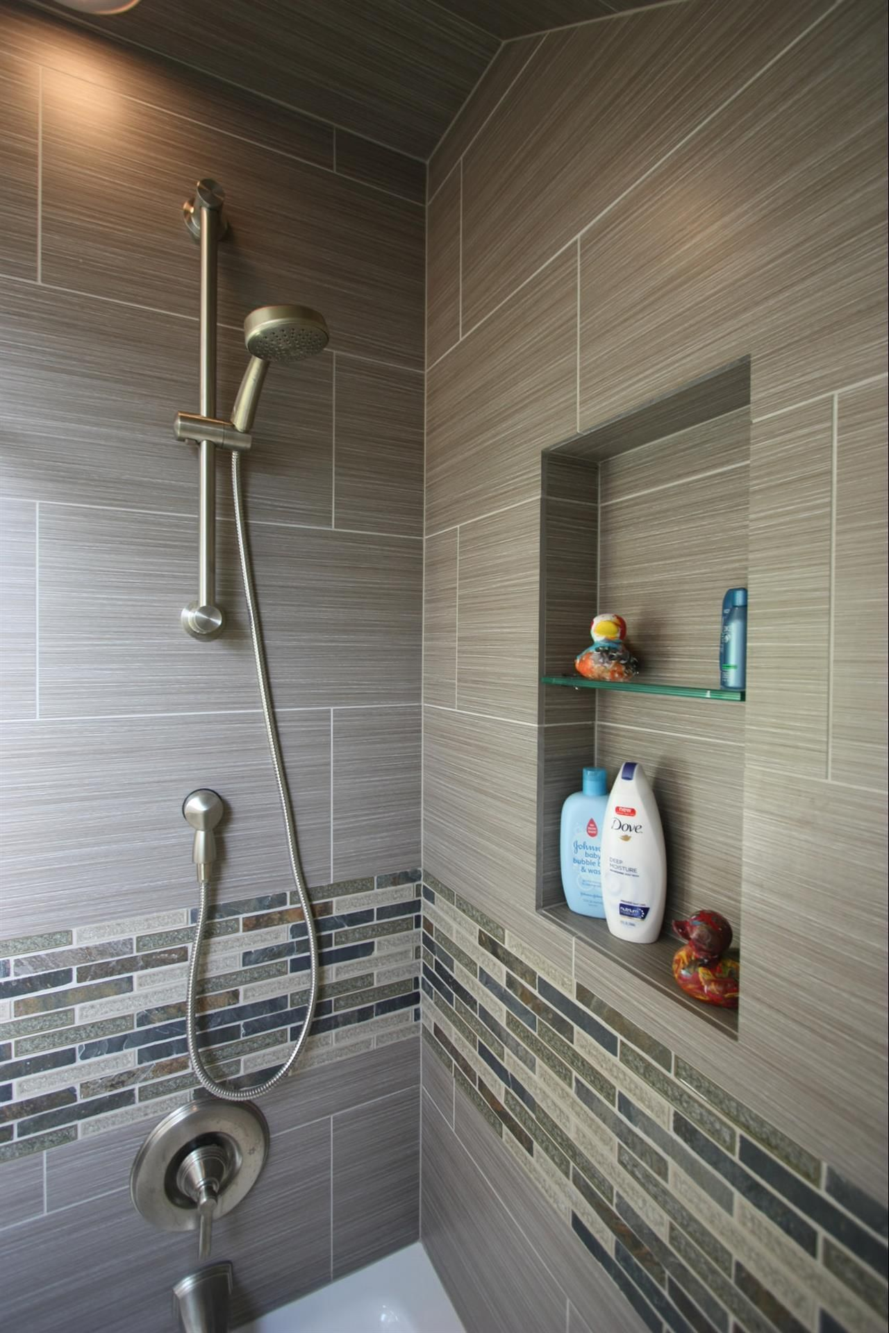 Bathroom Remodel Gray Tile love the color of these tiles! http://walkinshowers/best