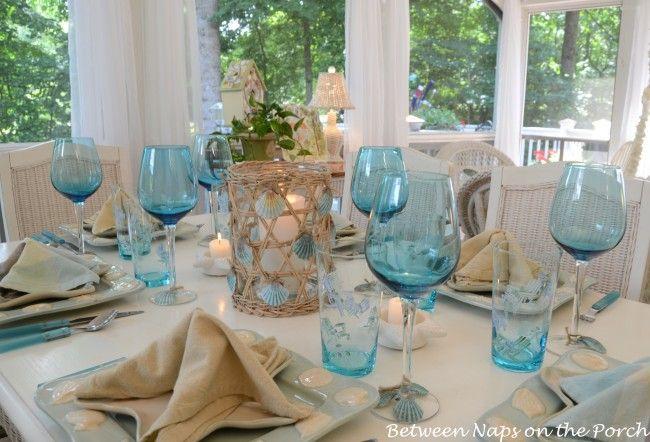 A Beach Themed Table Setting & A Beach Themed Table Setting | Beach Wedding and Inspiration