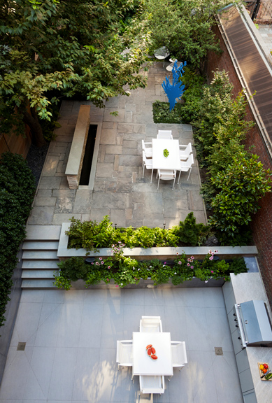 Townhouse Garden: Located in Brooklyn Heights neighborhood in Brooklyn, New York. Designed by Robin Key Landscape Architecture