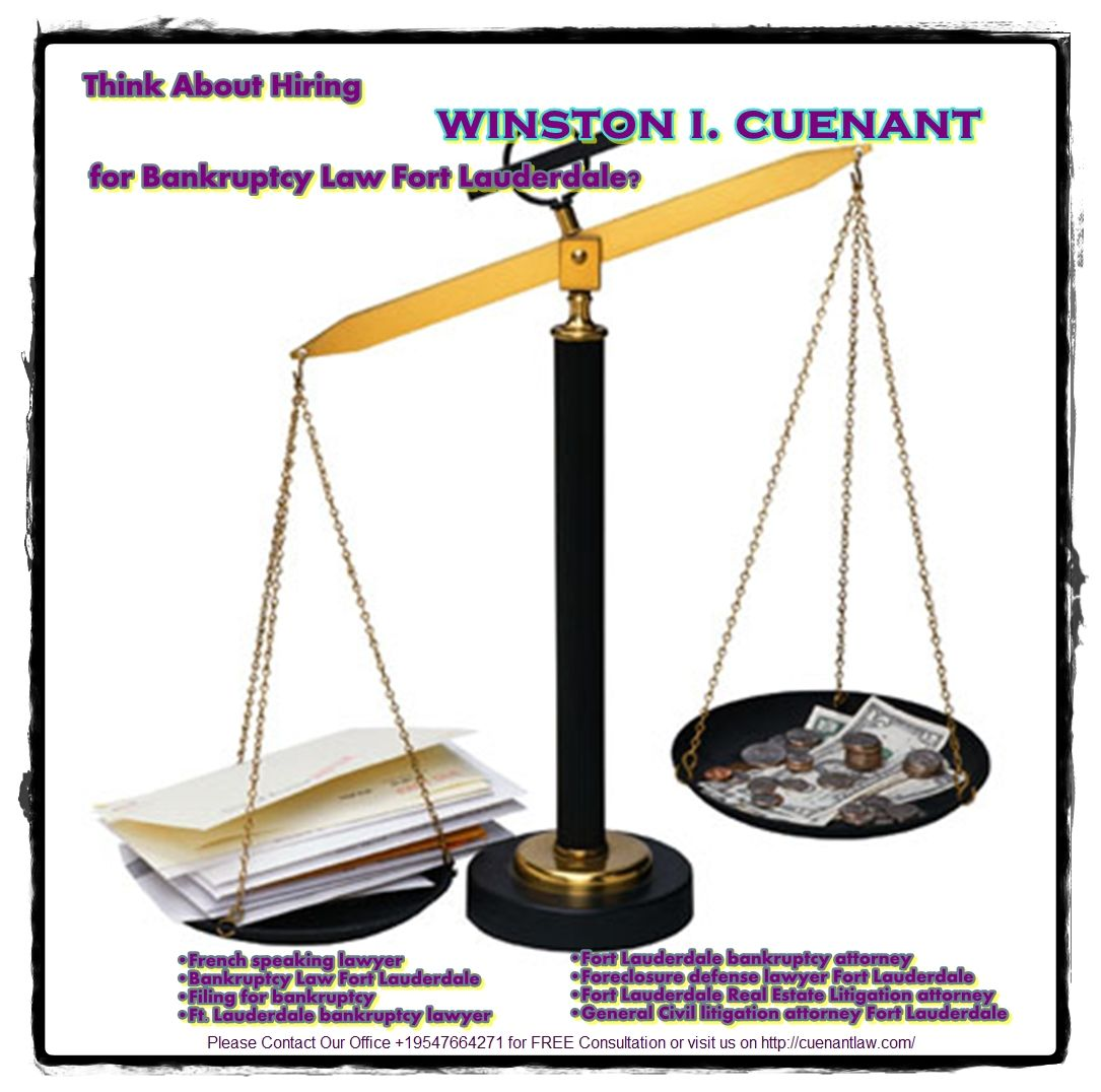 Think About Hiring Winston I. Cuenant For Bankruptcy Law