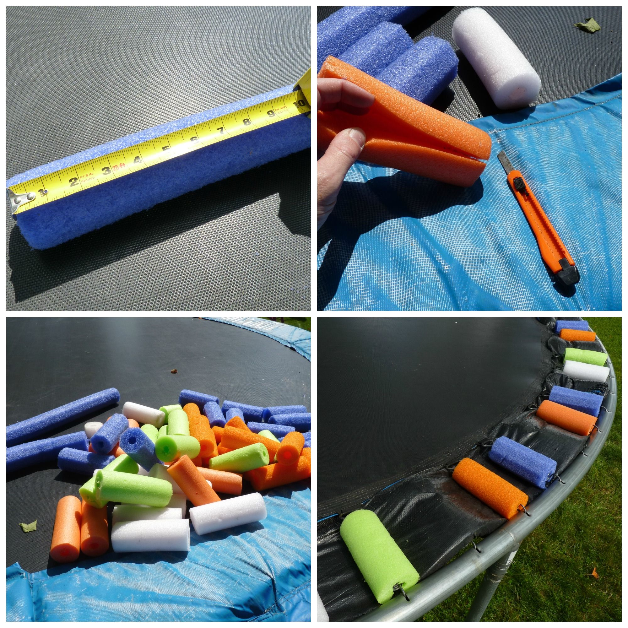 25 Best Ideas About Trampoline Spring Cover On Pinterest: Use Pool Noodles To Add Color (and Padding) To Your