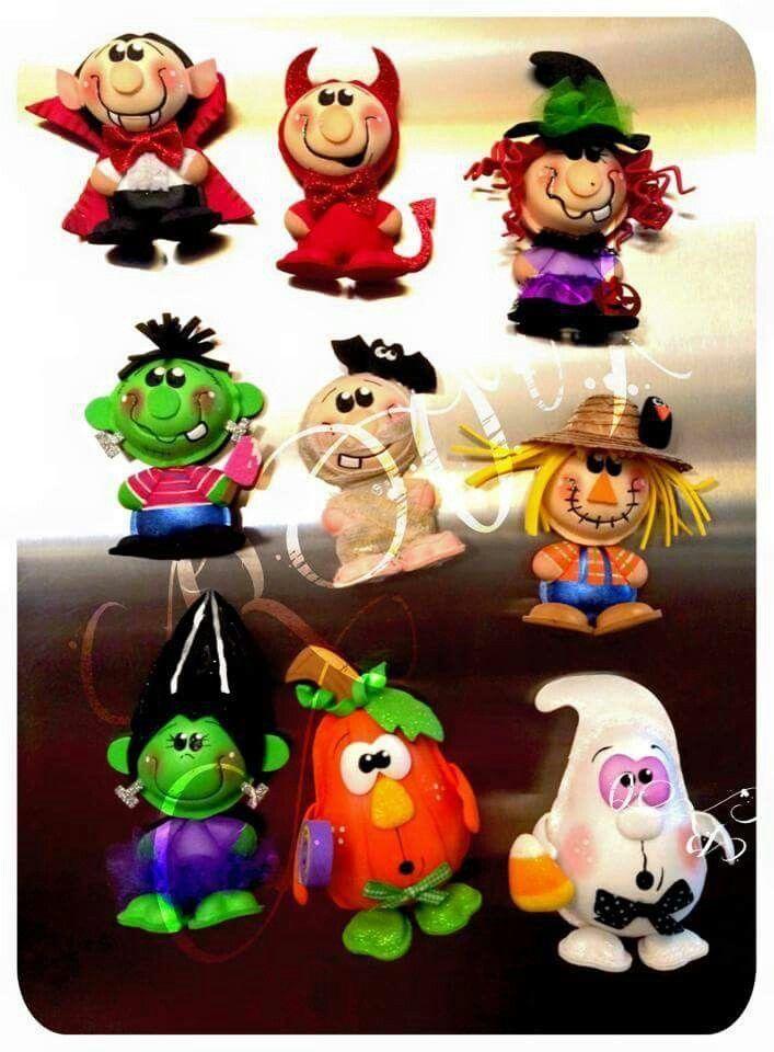 Pin von Indira Galvis auf Halloween | Pinterest | Knete und Fimo