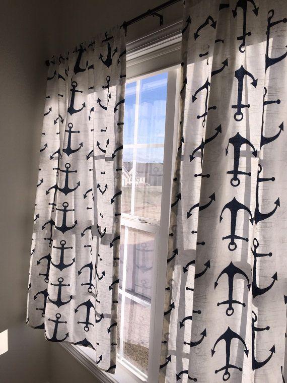 Anchor Curtain Panels Nautical Curtain Anchors Curtains Rod Pocket Curtains Premier Anchor Curtains Drapes Naut Nautical Curtains Curtains Panel Curtains