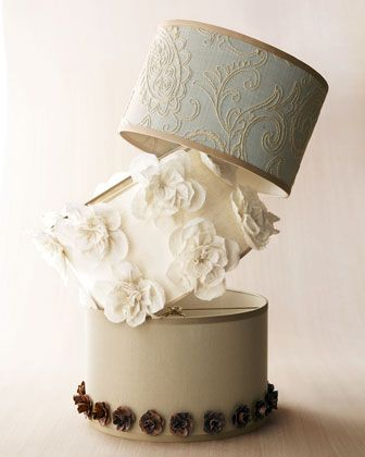 """I'm purring right now. LOVELY! """"Linens and Lace,"""" Ivory Roses, & Metal Roses Lamp Shades"""