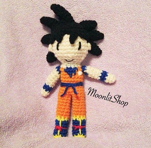 Crochet Dragon Ball Z Goku Amigurumi Doll | MoonlitShop | Pinterest