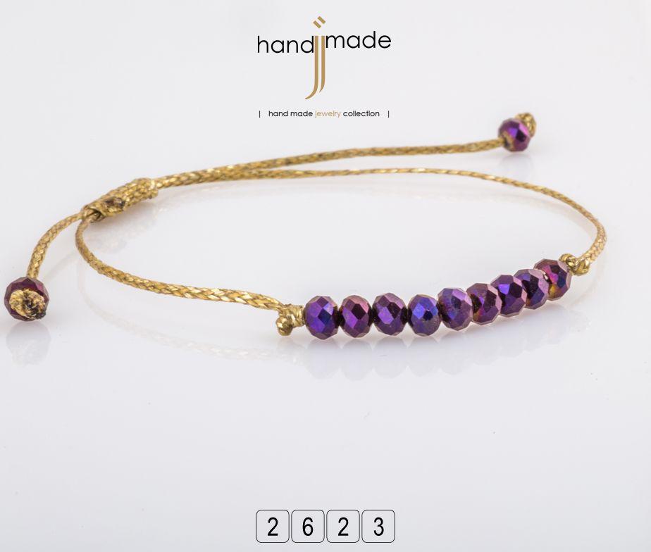 Χειροποίητο βραχιόλι με κρύσταλλο και χρυσό κορδόνι.  handmade  jewelry   fashion 8b0b9164628