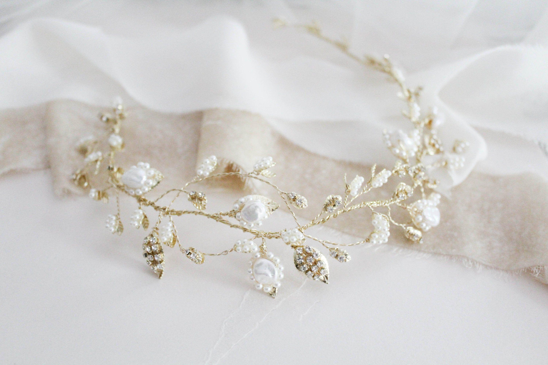 Black silver //fascinator pearls//clear jewels croc clip//headband