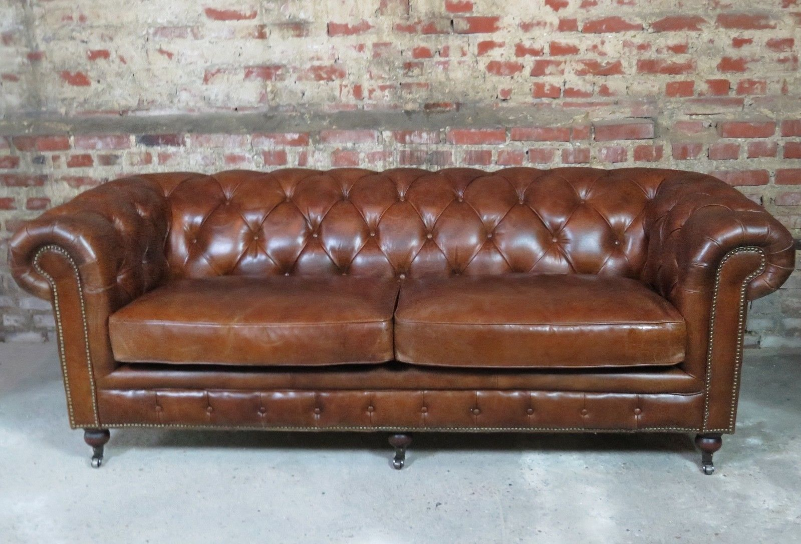 Canape Chesterfield 3 Places En Cuir Ebay Canape Chesterfield Canape En Cuir Mobilier De Salon