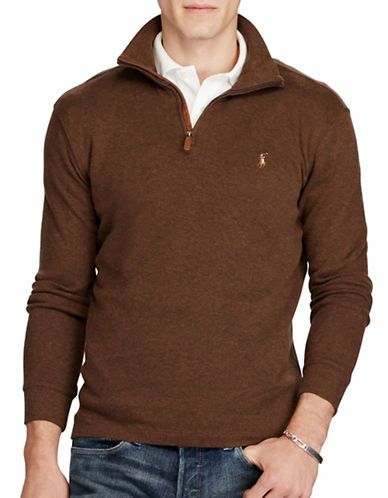 701a5ebf95ea Polo Ralph Lauren Jacquard Estate-Rib Pullover Men's Brown XX-Large ...