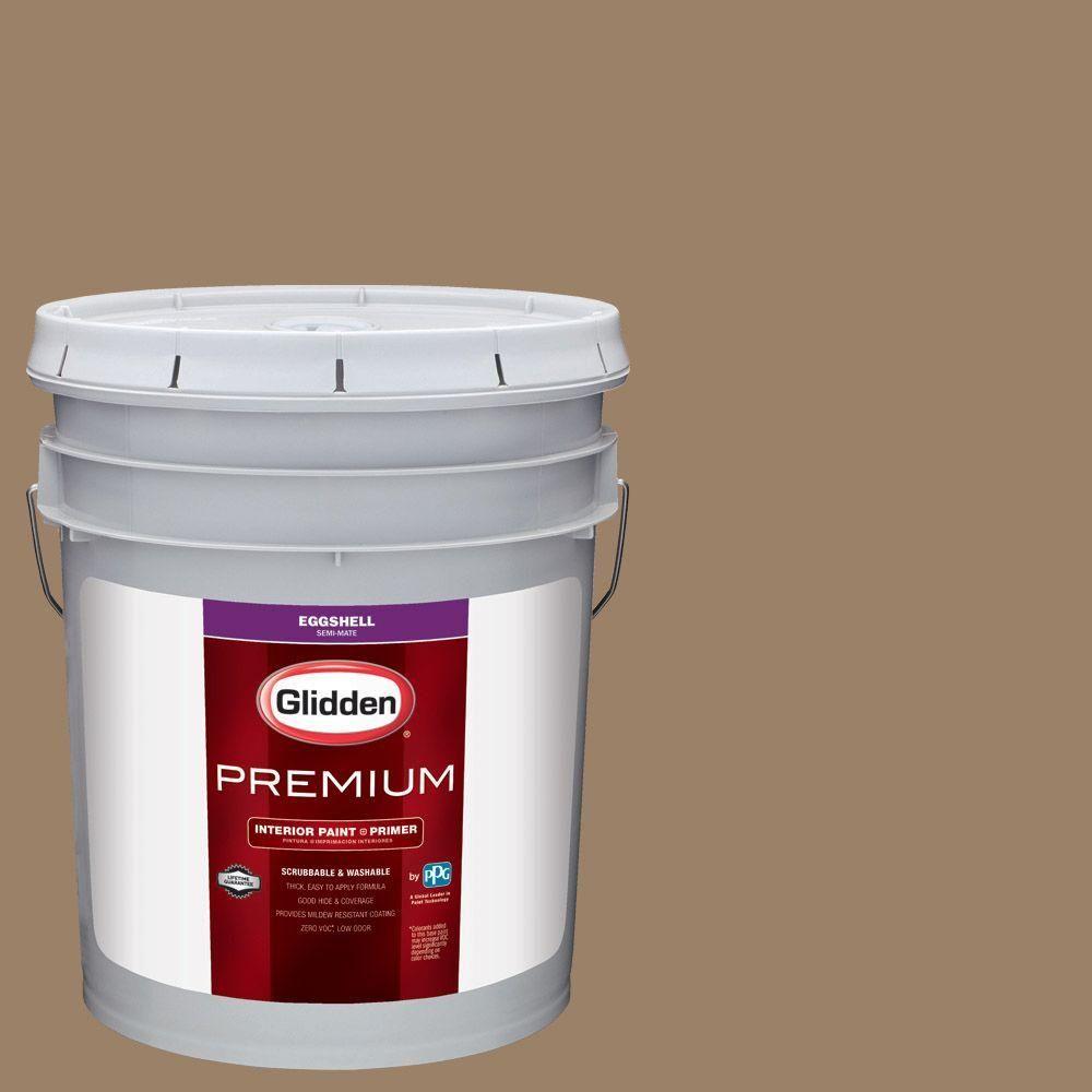 Glidden Premium 5 gal. #HDGY13U Canvasback Brown Eggshell Interior Paint with Primer & Glidden Premium 5 gal. #HDGY13U Canvasback Brown Eggshell Interior ...