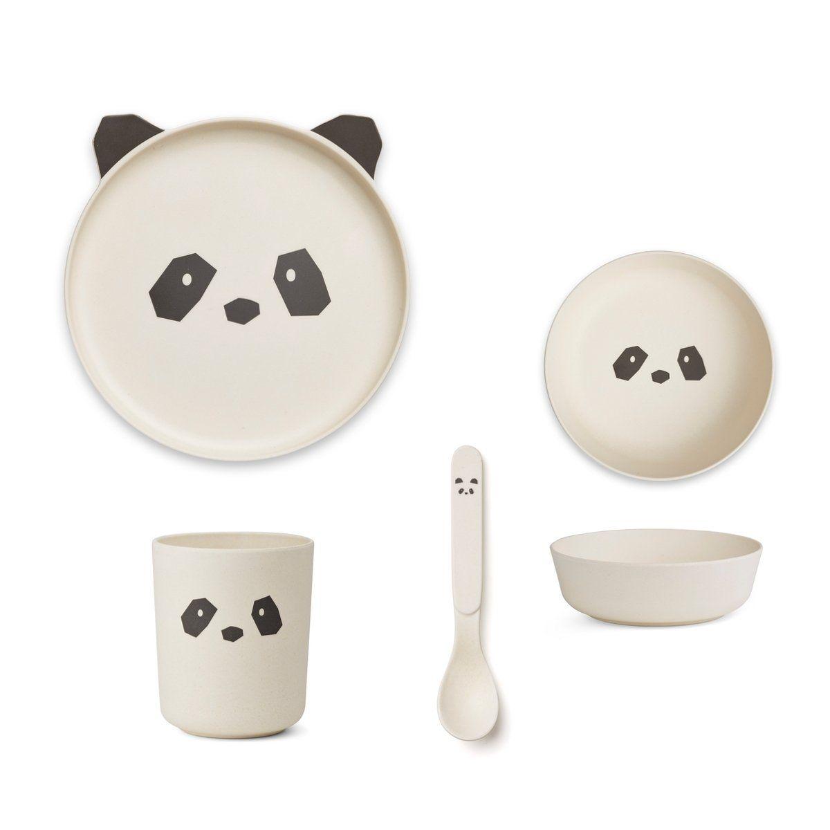 Liewood Kindergeschirr Set Panda And Babies