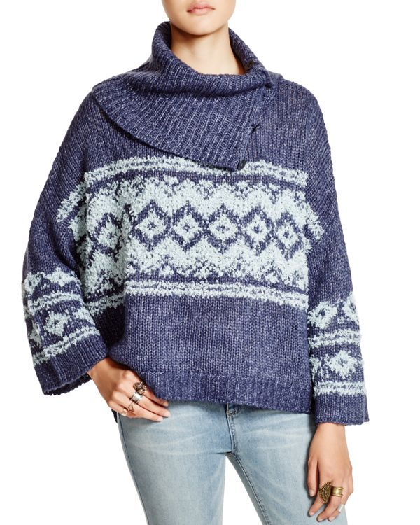 Free People Fair Isle Split Neck Sweater | Q4 2016 | Pinterest ...