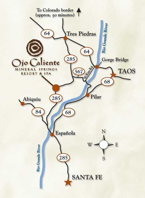 Ojo Caliente New Mexico Map.Ojo Caliente Spa New Mexico Looking Forward To My Yearly Trip