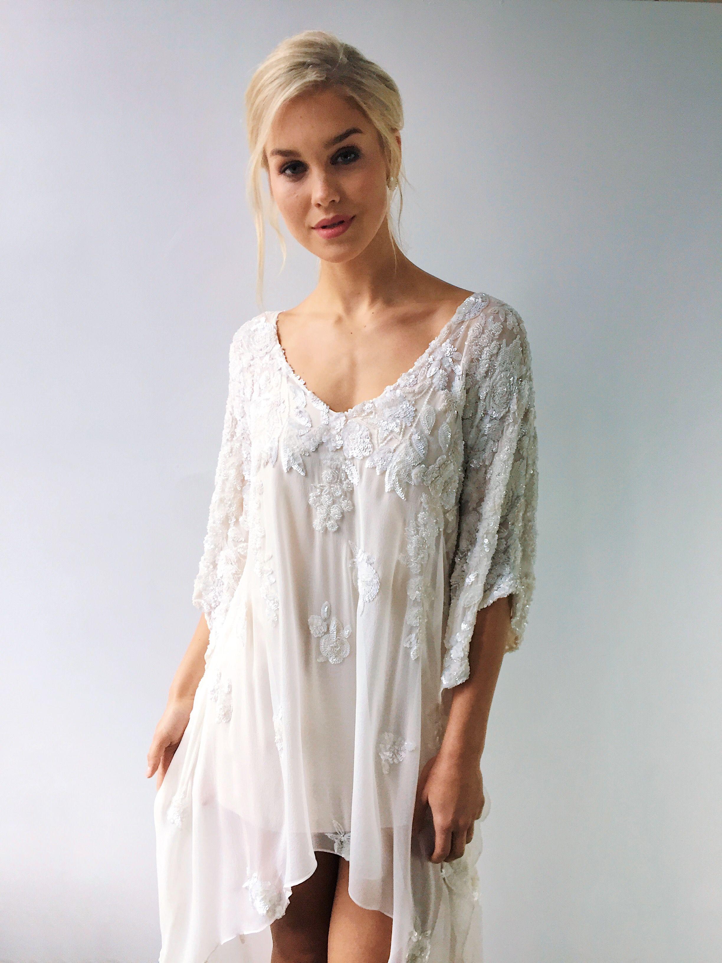 Short white dresses for wedding reception  Cloisters Caftan  WomenMenus fashion  clothes  accessories etc