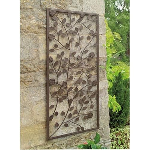 Image detail for rose decorative metal garden wall art for Decoration metal pour jardin