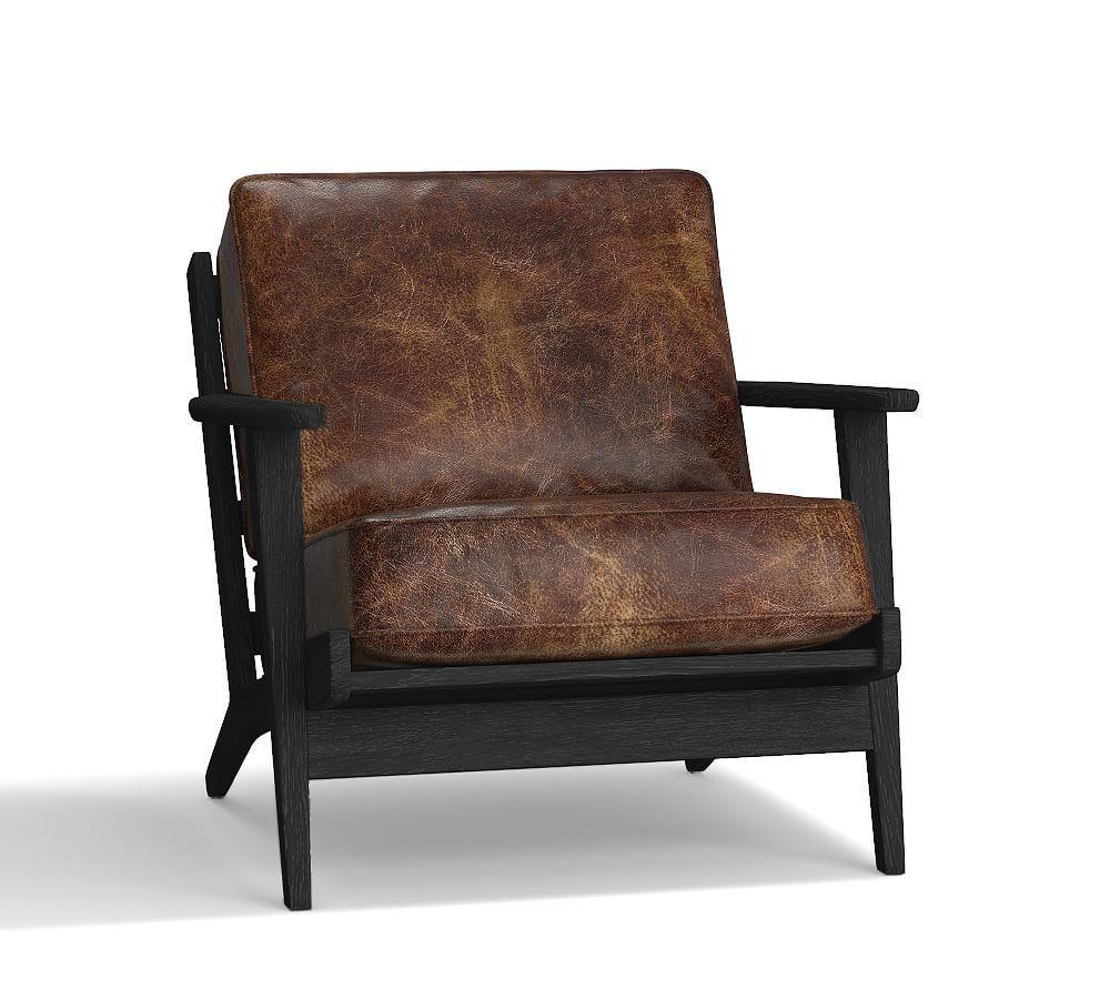 Raylan Leather Armchair Armchair, Chair fabric, Kiln