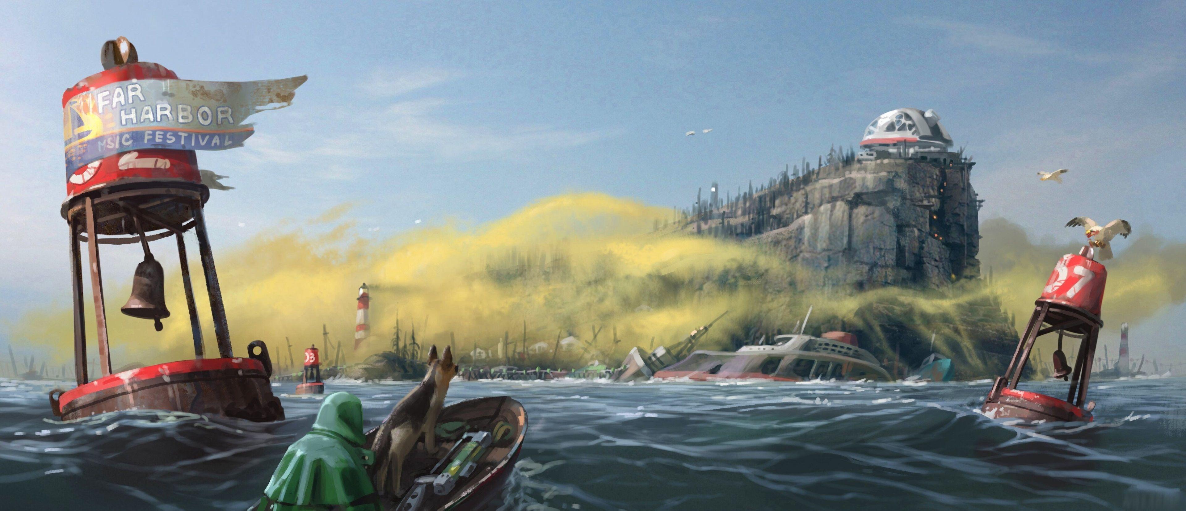 3840x1655 Fallout 4 Far Harbor 4k Free Download Wallpaper Fallout 4 Wallpapers Fallout Art Concept Art