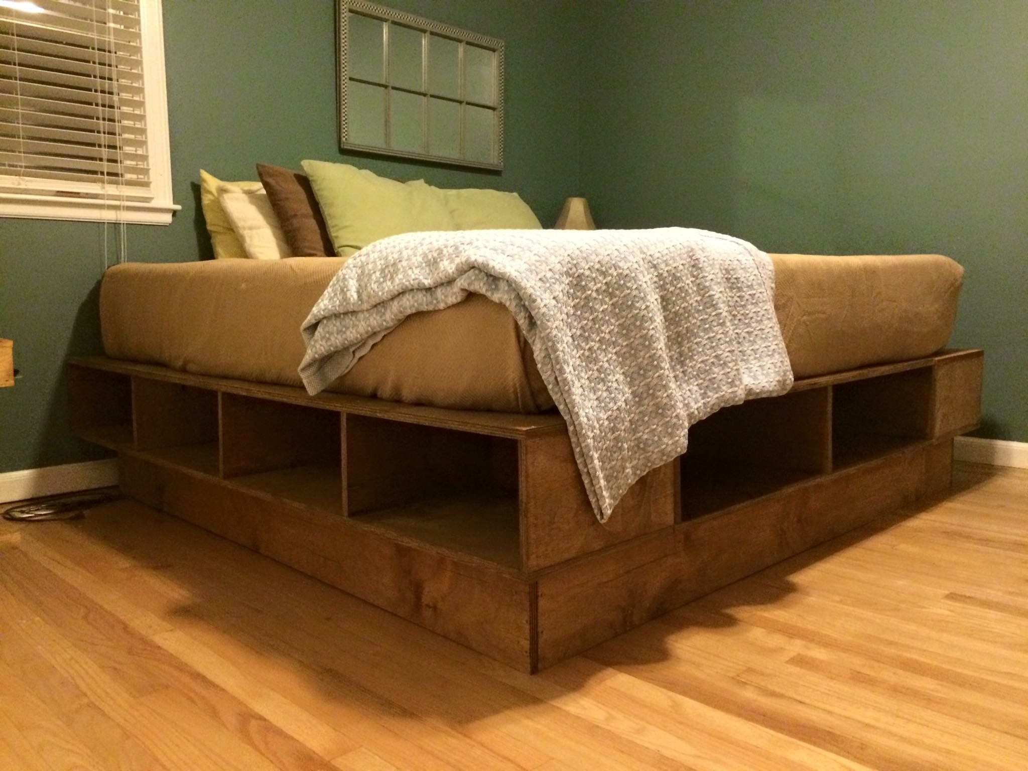 Platform Bed King Size Simple Straight Cuts Used The