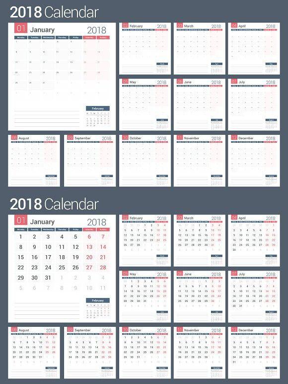 2018 calendar and planner calendar calendar template. Black Bedroom Furniture Sets. Home Design Ideas