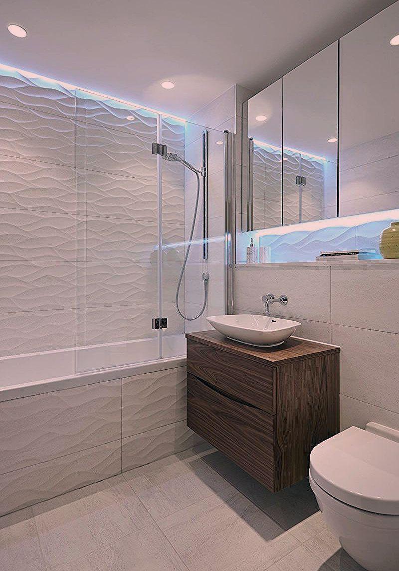 Bathroom Tile Idea Install 3d Tiles To Add Texture To Your Bathroom Contemporist Mit Bildern Badezimmer Fliesen Badezimmer Badezimmer Grundriss