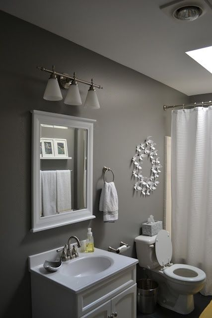 another gray bathroom