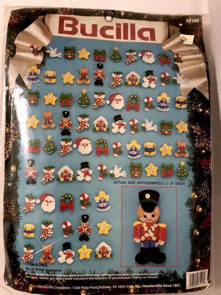 Bucilla Trim-A-Tree Set of 75 Ornaments