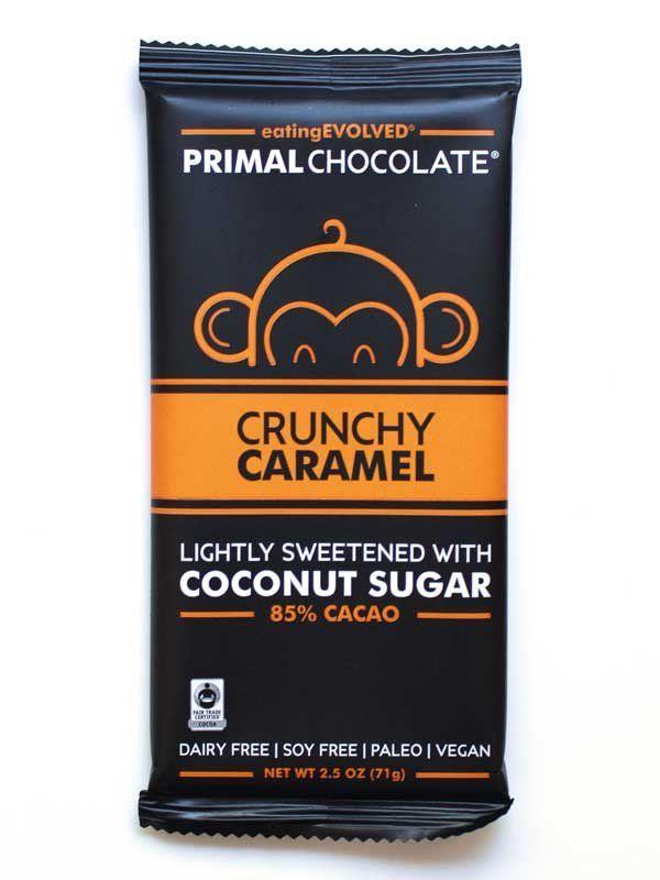 Crunchy Caramel 85 Cacao Caramel Coconut Sugar Coconut