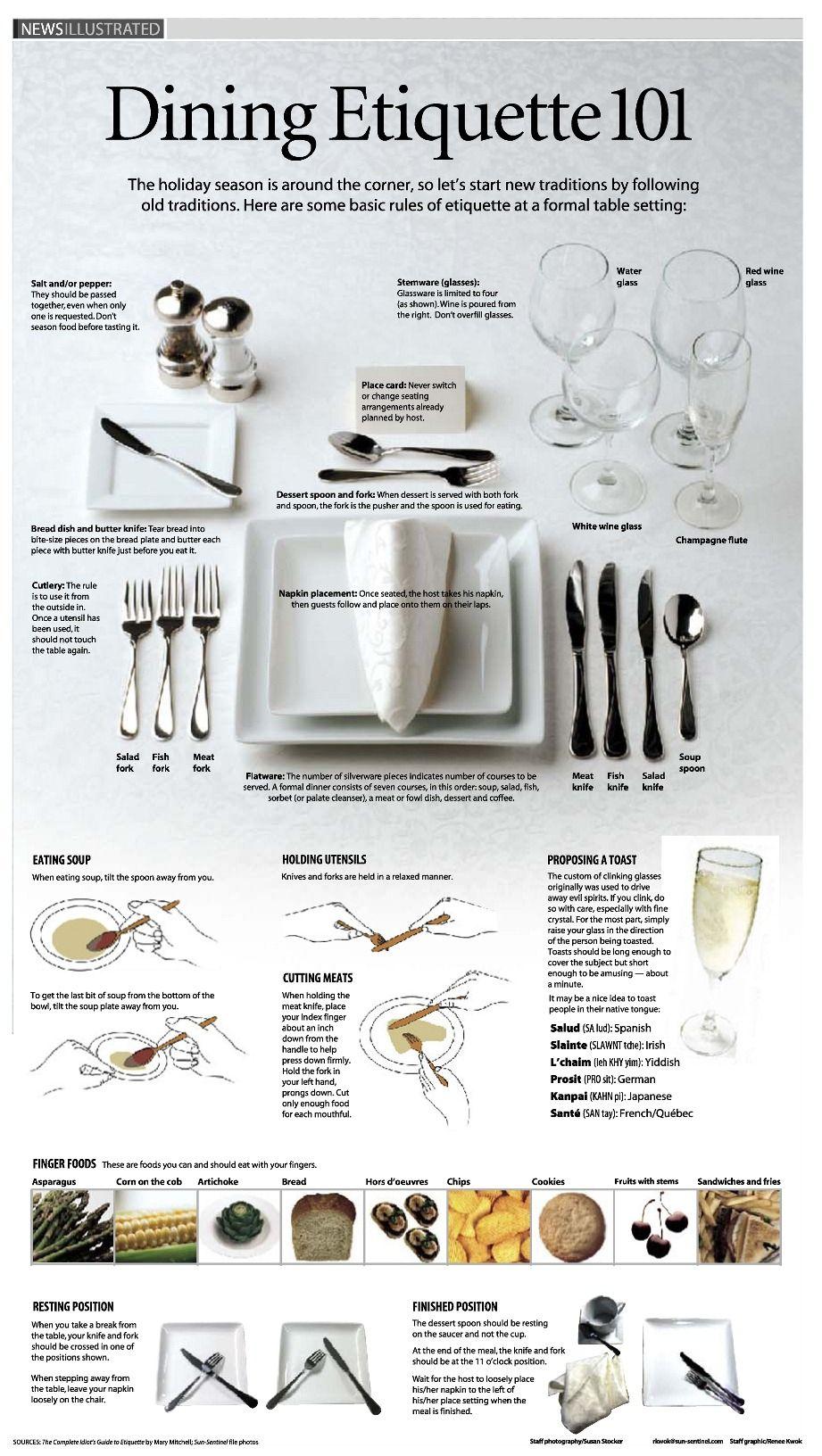 Algunas reglas de etiqueta para Cenar #DiningEtiquette | Fine Living ...