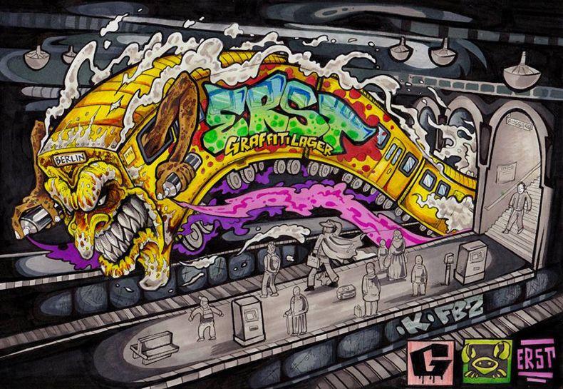 Boom Boom Erst | Künstler | Graffitilager