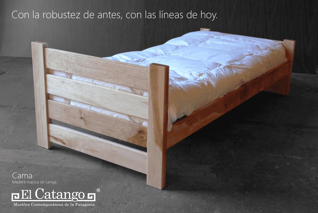 Cama Nonthue - Comprar en elcatango | Muebles de madera maciza ...