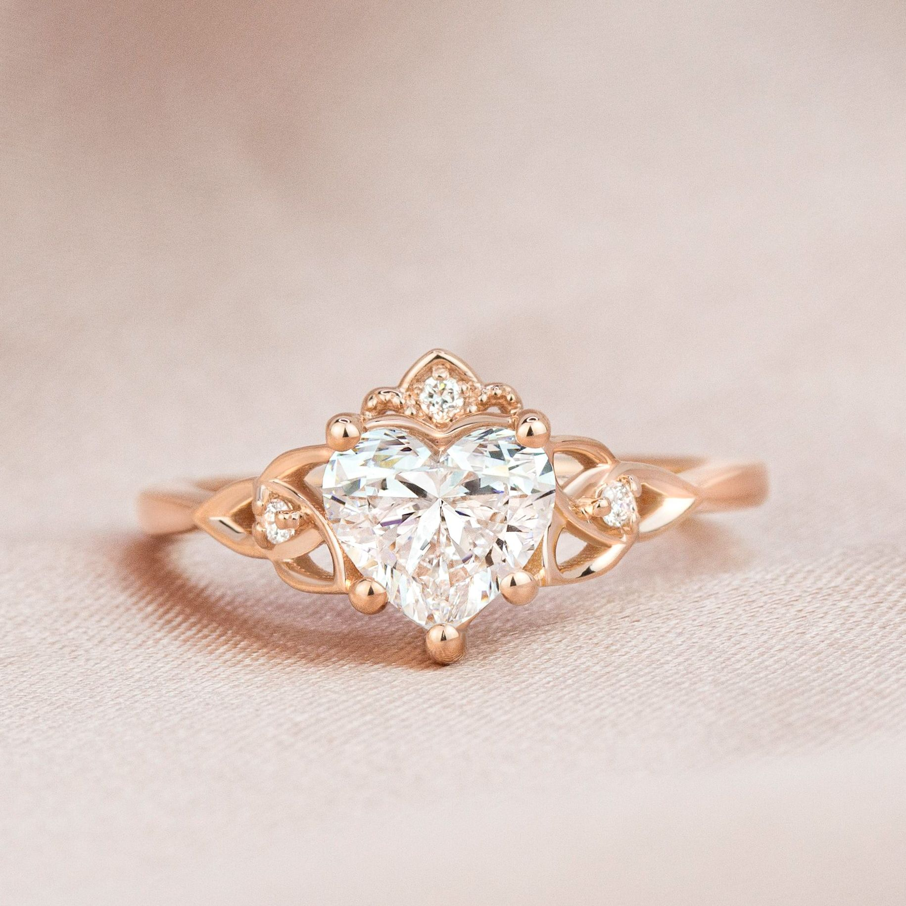 Rose Gold Plated Ring Crown Cluster Engagement Ring,Gift Ring,Silver Zircon Ring,Custom ring Vintage Art Deco Ring