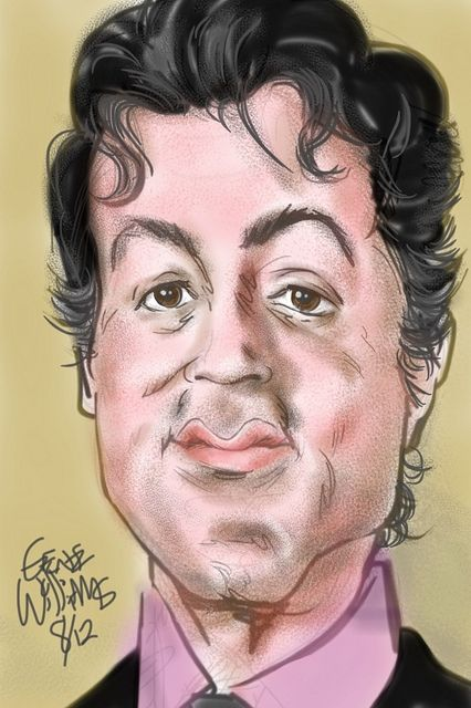 Sylvester Stallone By Gwiz Only Caricatures Caricature
