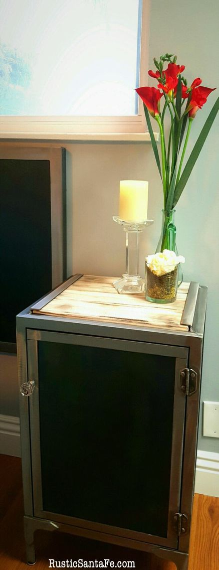 Industrial nightstand  https://www.etsy.com/shop/RusticSantaFe