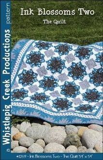 """Ink Blossoms Two Quilt Pattern by Whistlepig Creek Productions at KayeWood.com. Create this intriguing 54"""" x 54"""" Lap Quilt or Wall Hanging. No """"Y"""" Seam. http://www.kayewood.com/Ink-Blossoms-Two-Quilt-Pattern-by-Whistlepig-Creek-Productions-WPC-INBL2.htm $9.50"""