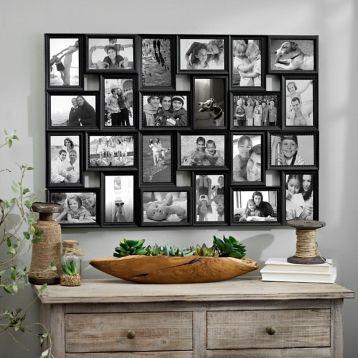 Black 24Opening Collage Frame Postcard display, Photo