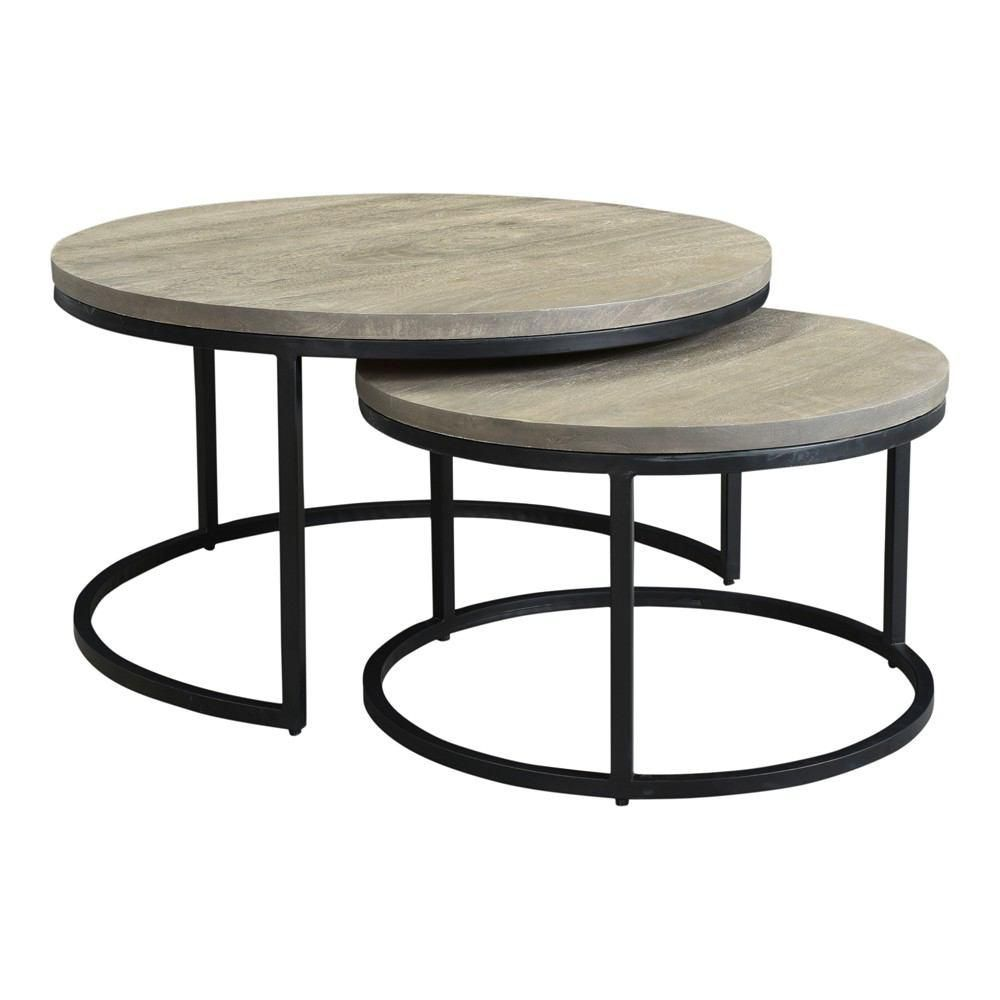 Moe S Home Collection Drey Round Nesting Coffee Tables Set Of 2
