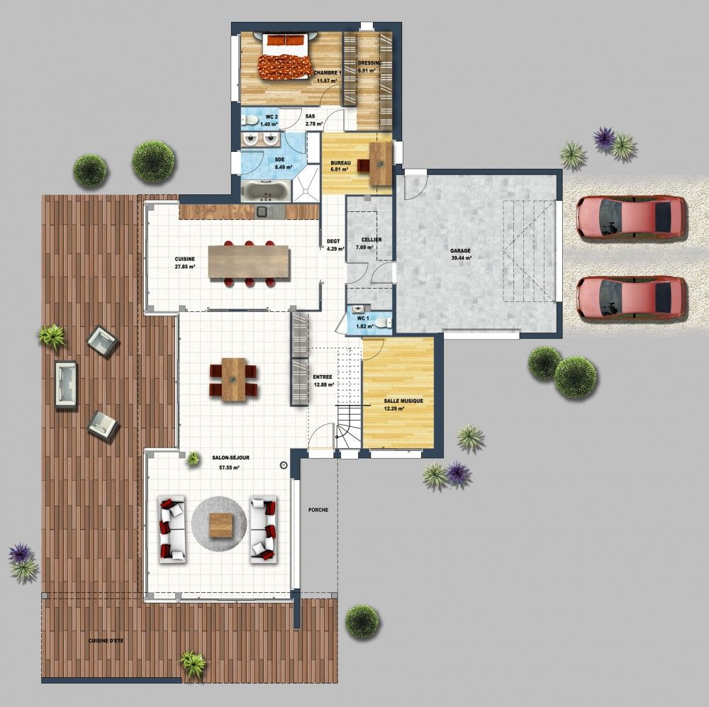 Constructeur maison moderne nantes st felix loire for Maison cube moderne constructeur