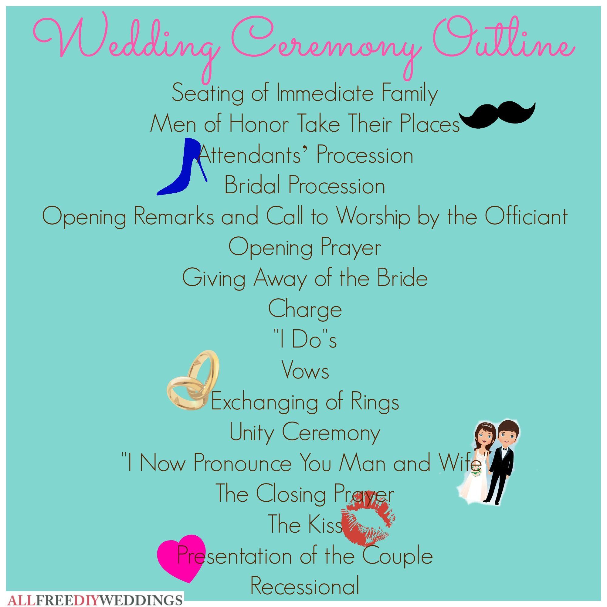 Wedding Ceremony Outline Wedding ceremony outline